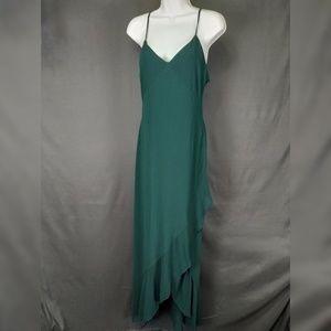 Lulu's Medium Hunter Green Maxi Dress